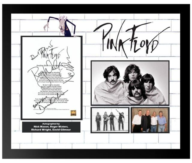 Image 1 Pink Floyd Another Brick In The Wall Signed Lyrics