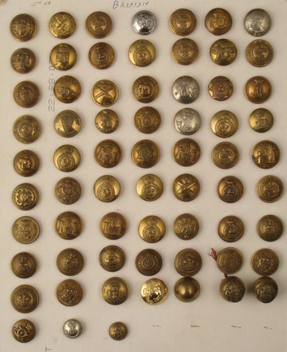Military Vintage Us Buttons Identification