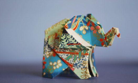 vika elefant i papper