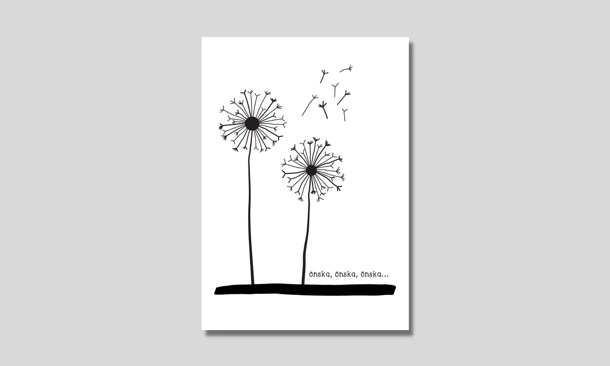 gratis printable för att fingermåla maskrosor