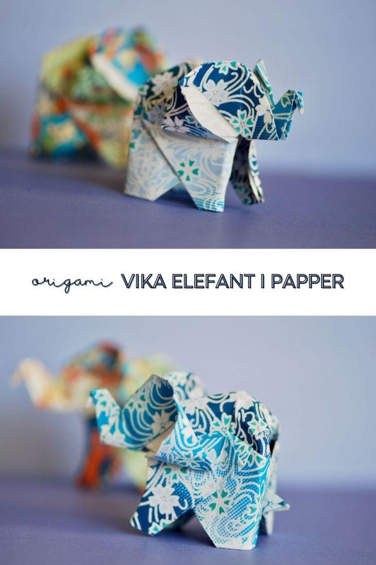 pinterest origami elefant