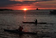 kanotister i solnedgången, saltholmen