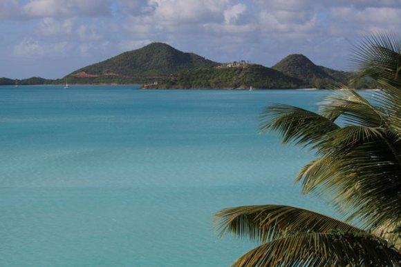Utsikt från vår balkong på Cocos Hotel, Antigua December 2013