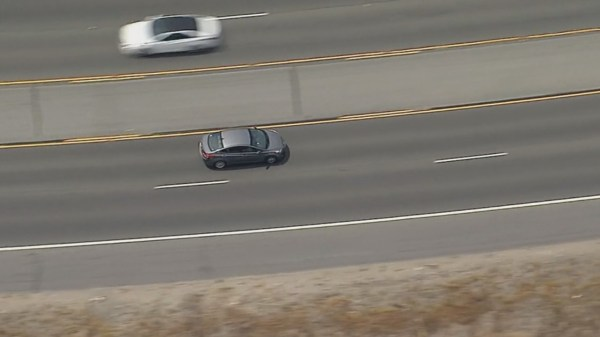 High-speed chase ends in California citrus grove