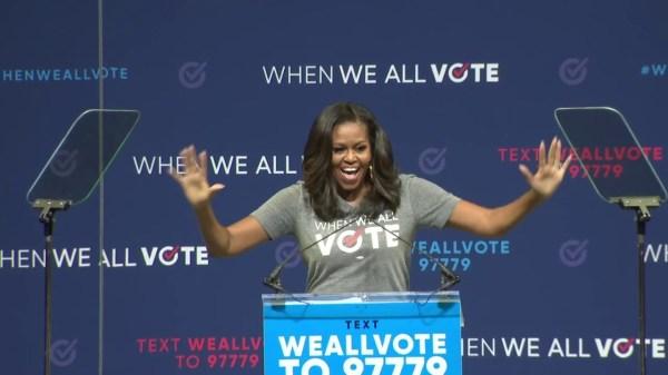 Michelle Obama headlines voting rally in Miami