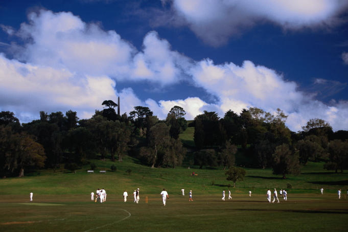 Cricket match at Cornwell Park.