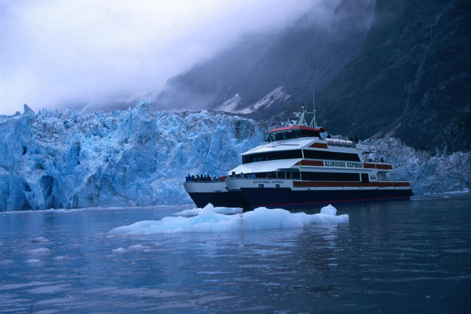Cruising through glaciers in Prince William Sound, Alaska