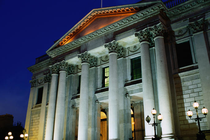 City Hall at night.