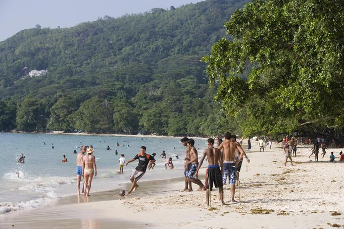 Beach activities.