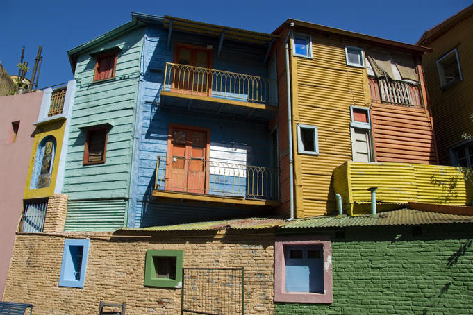 Colourful houses in La Boca, Buenos Aires