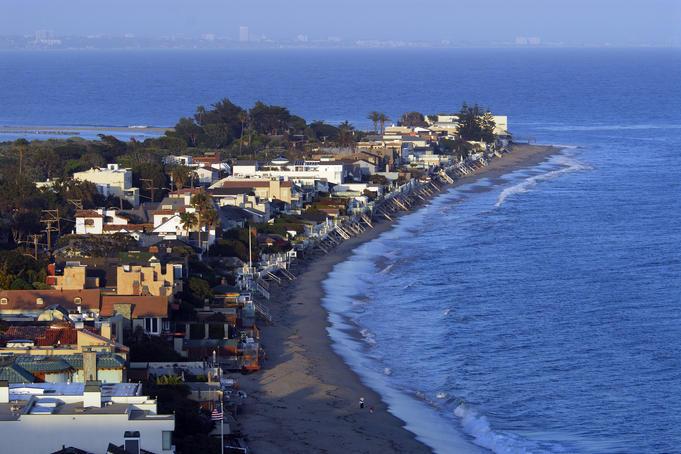 Overhead of Malibu Colony, off Pacific Coast Hwy.