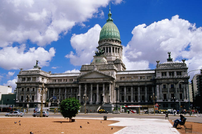 Palacio del Congreso, on Plaza del Congreso.
