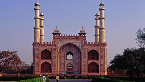 Akbar's Mausoleum at Sikandra.