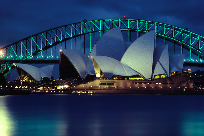 Sydney Opera House and Harbour Bridge.