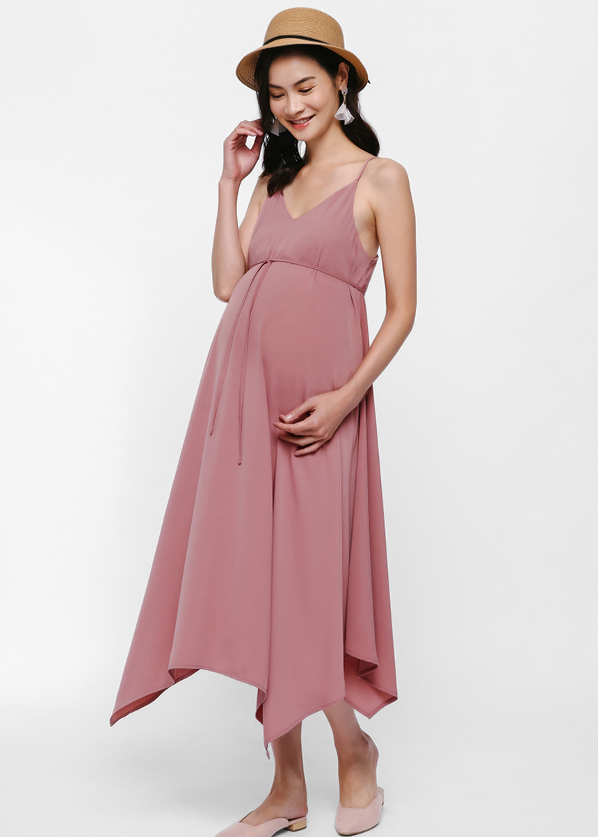 Dianna Kerchief Hem Maxi Dress