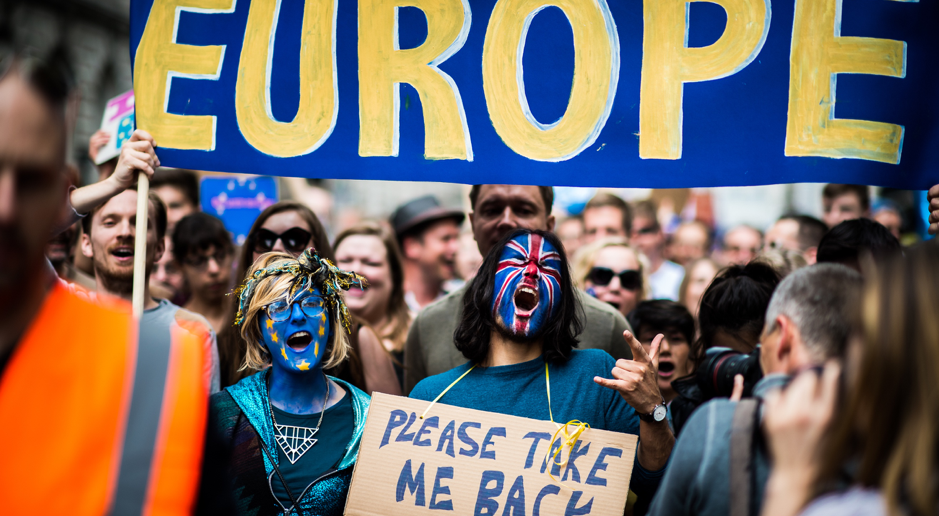 Brexit Protesters in London, Garon Smith