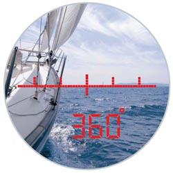 Inbyggd kompass i 360 grader
