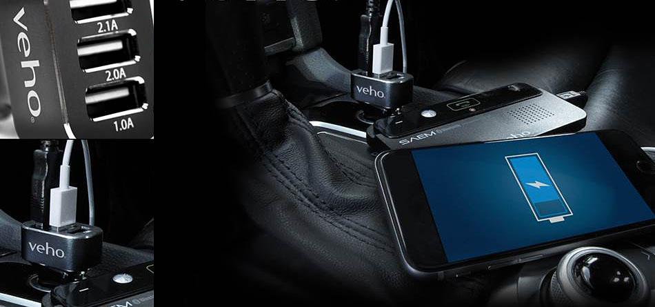 Veho Trippel USB-laddare för bilen