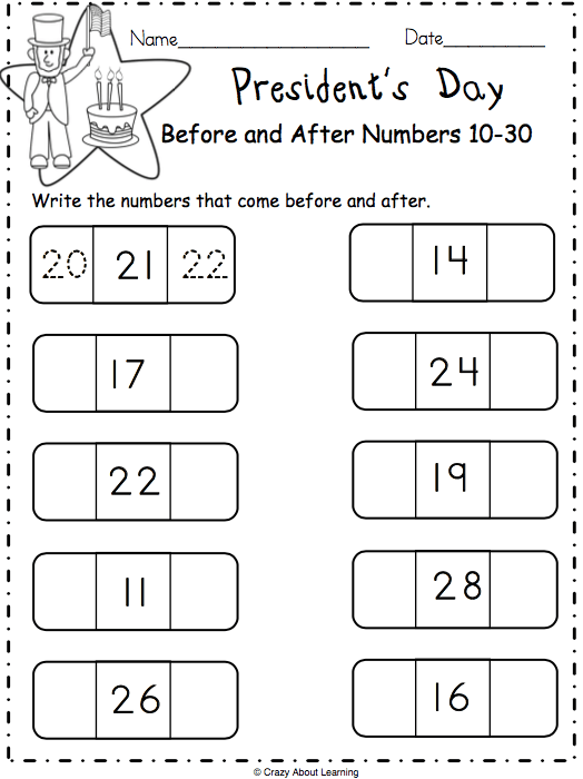 Free President S Day Math Worksheet