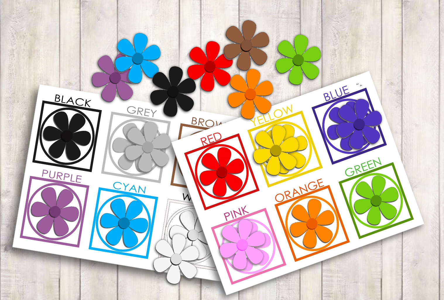 Free Learning Colors For Toddlers With Flowers Age 1 3