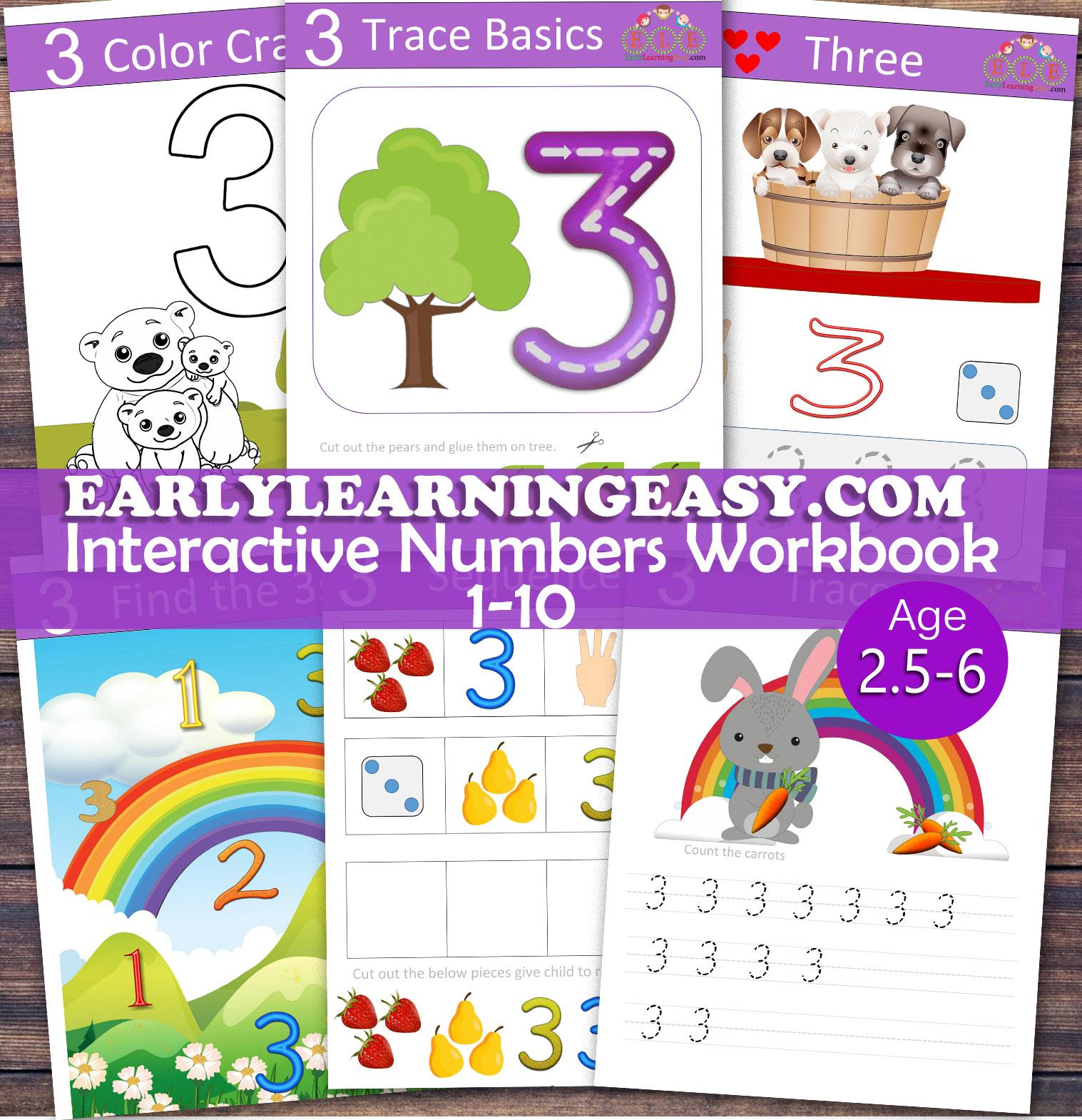 Interactive Numbers Workbook 1 10