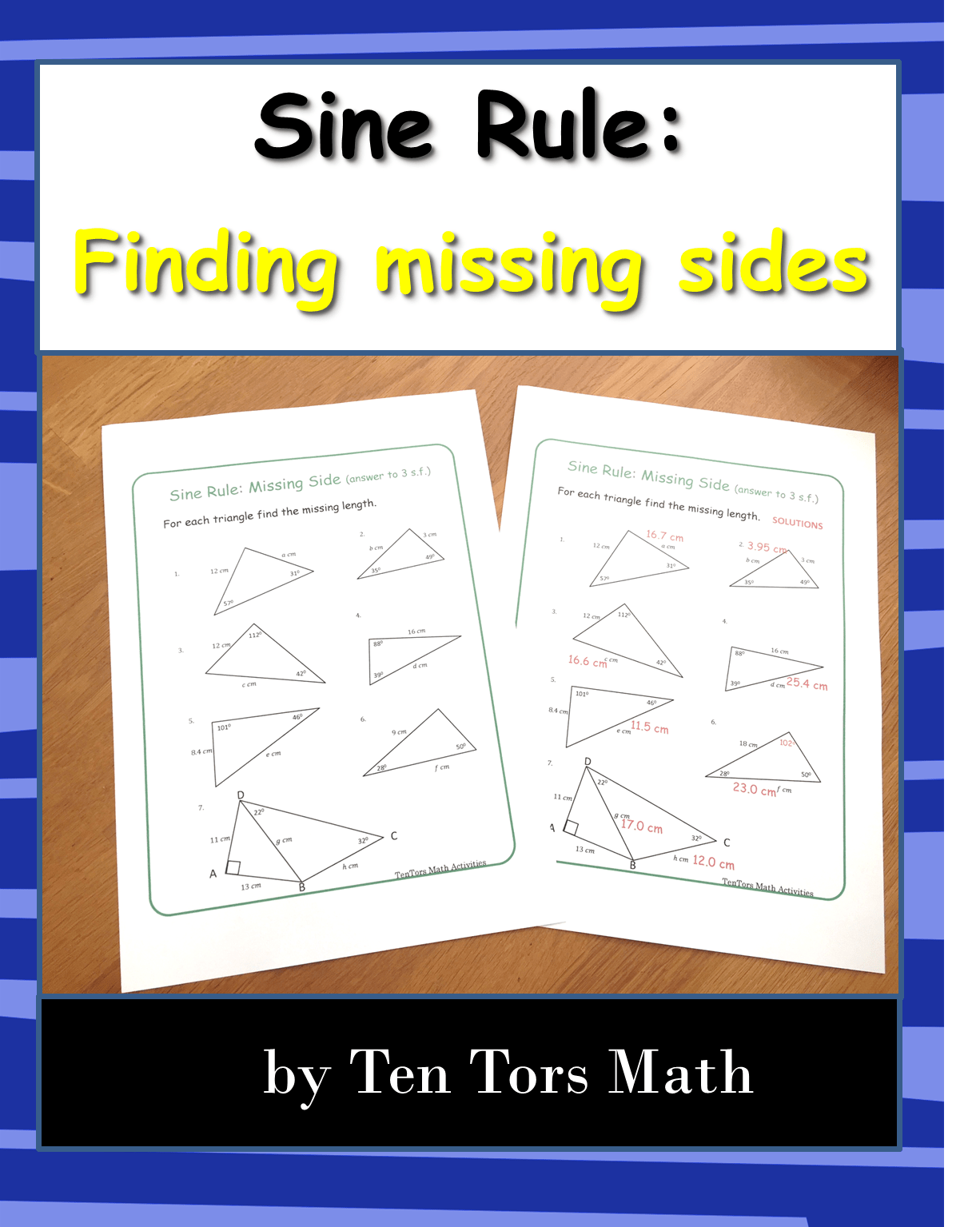 Sine Rule Missing Sides