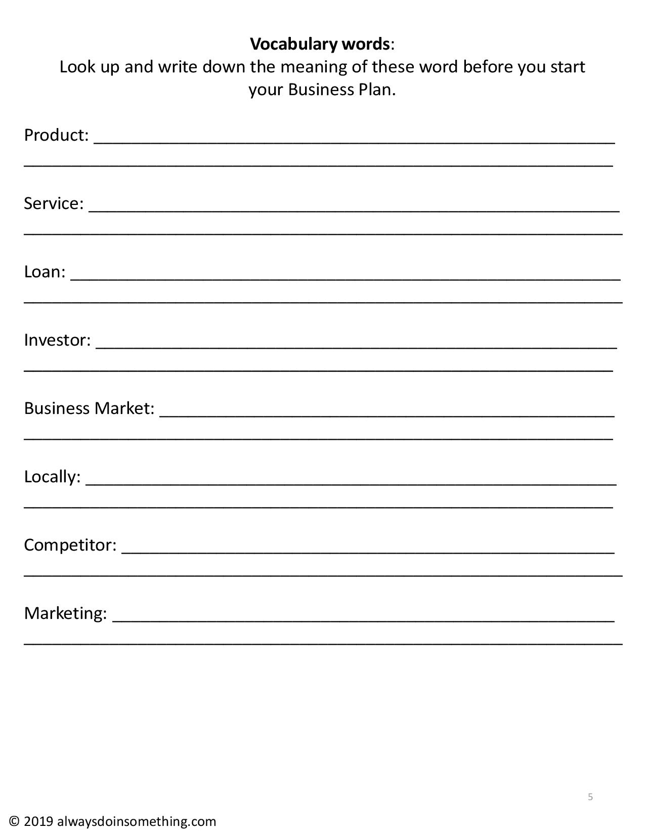 Business Plan For Kids A Sample Outline And Research