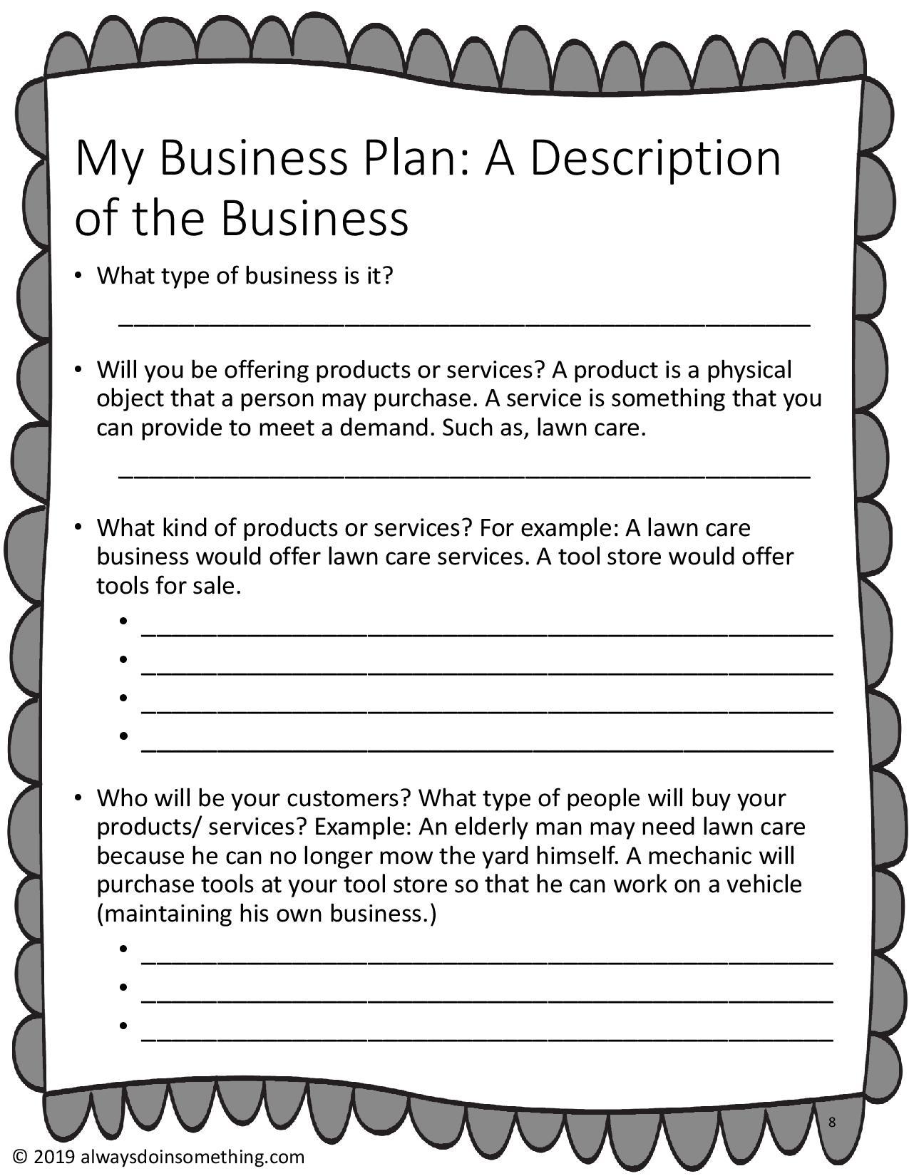 Business Plan Bundle Kids And Teens