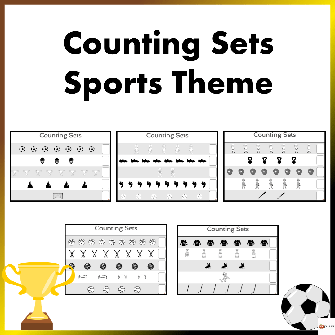 Counting Sets Practice Sheets Sports Theme