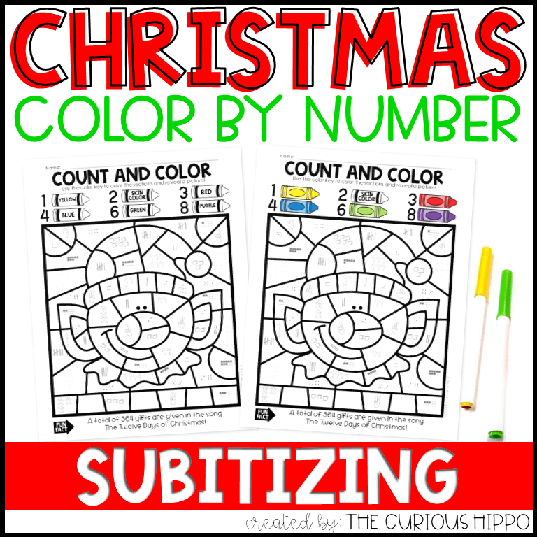 Christmas Color By Number Madebyteachers
