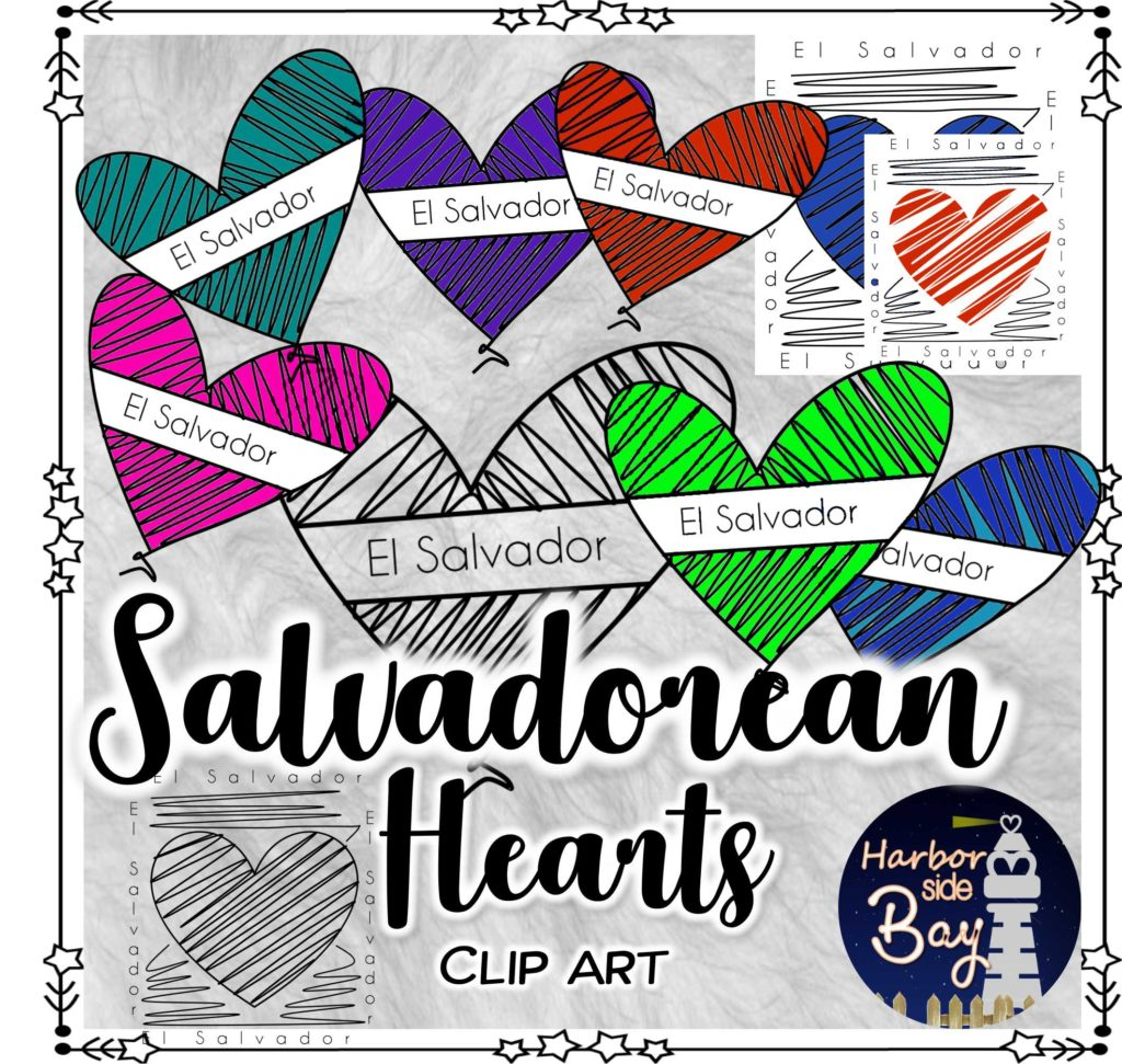 El Salvador Clip Art Salvadorean Hearts