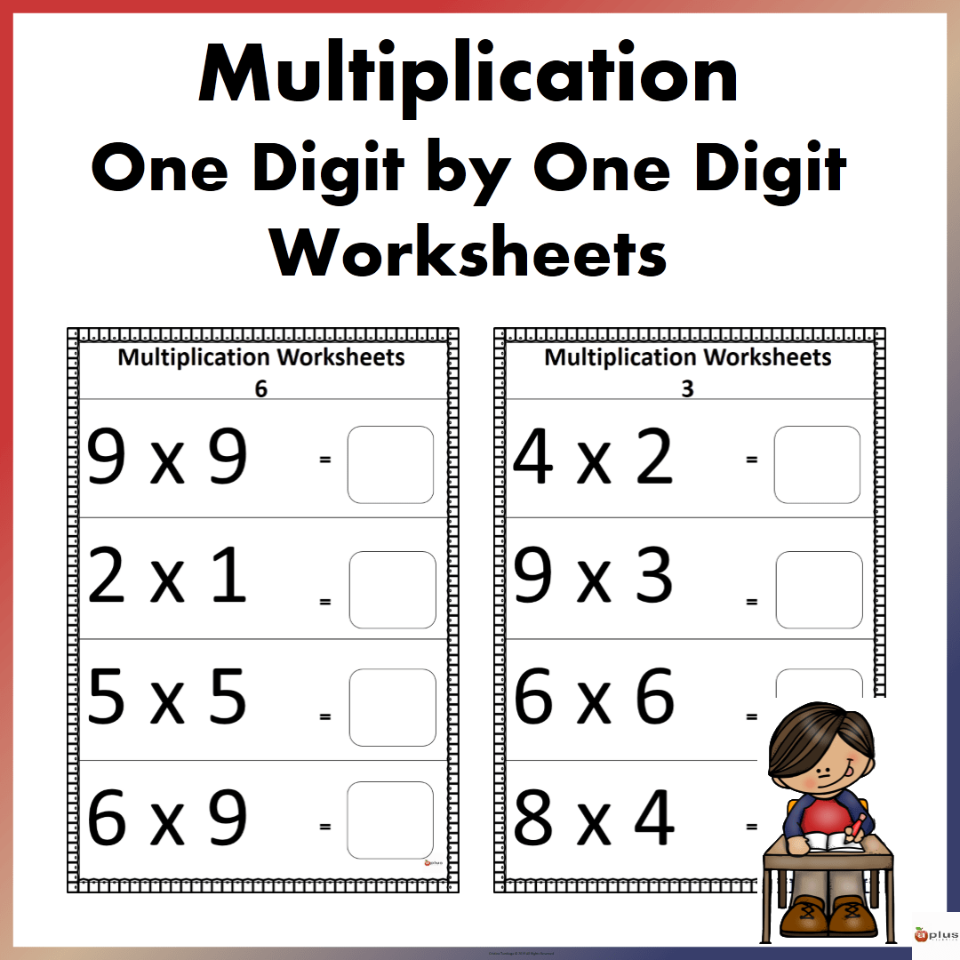 One By One Digit Multiplication Worksheets