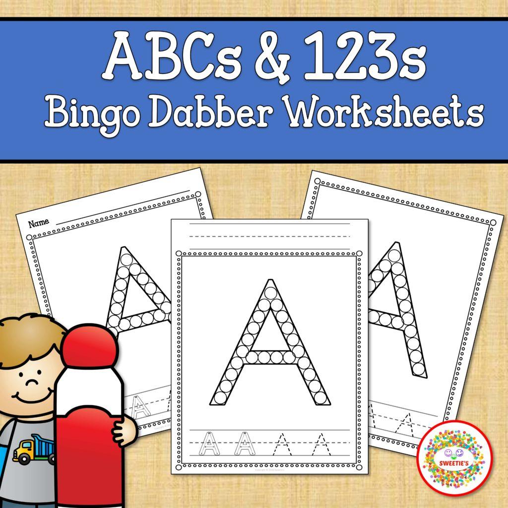 Alphabet And Number Worksheets Bingo Dabber