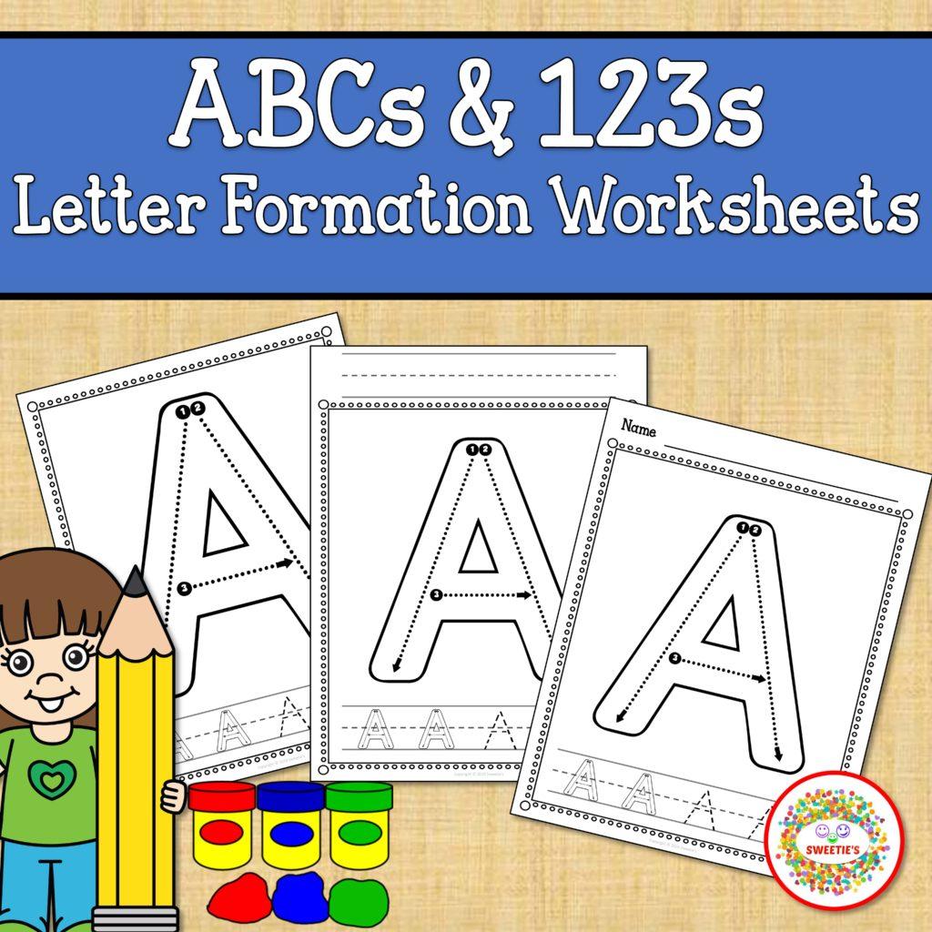 Alphabet And Number Worksheets Correct Letter Formation