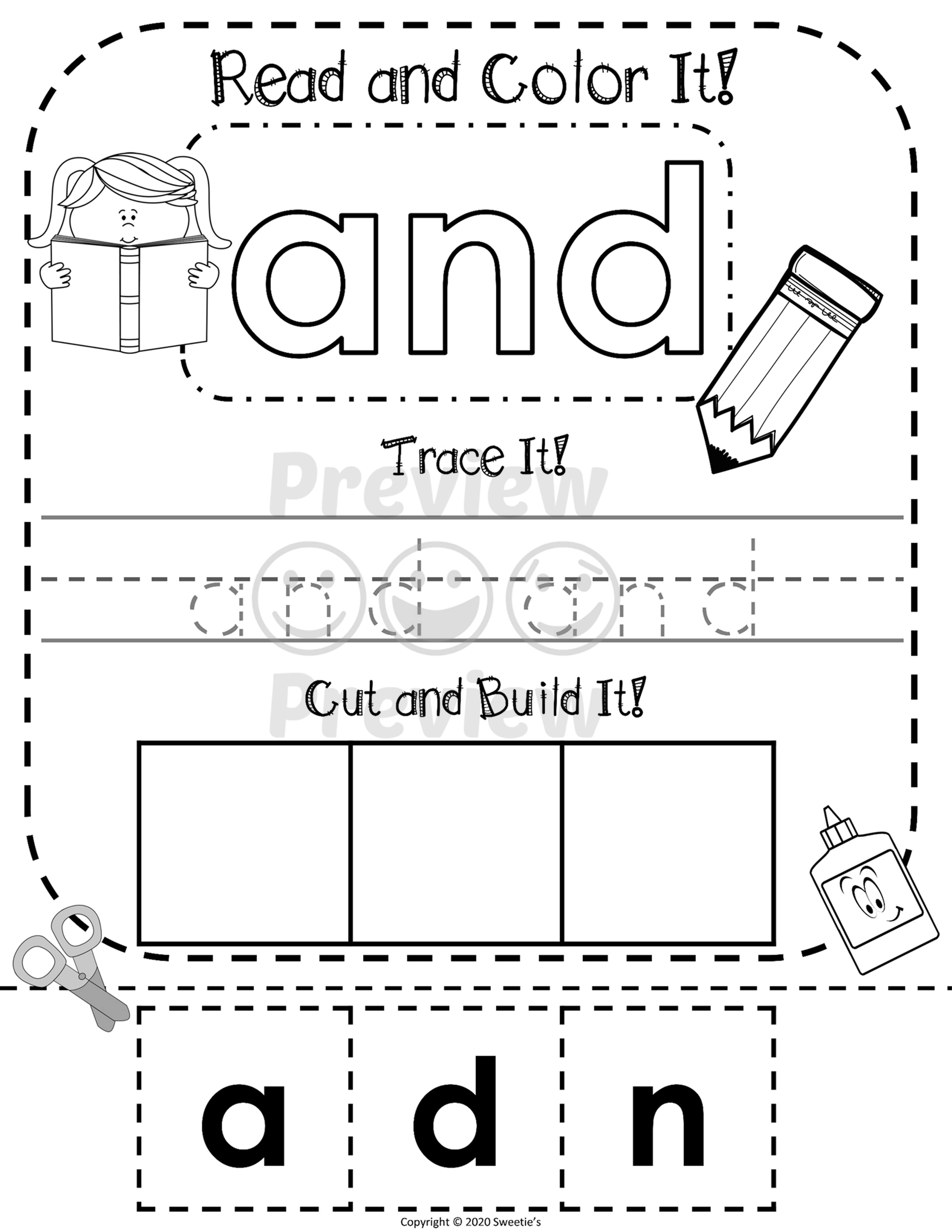 Dolch Pre Kindergarten Read Write Build A Word Worksheet