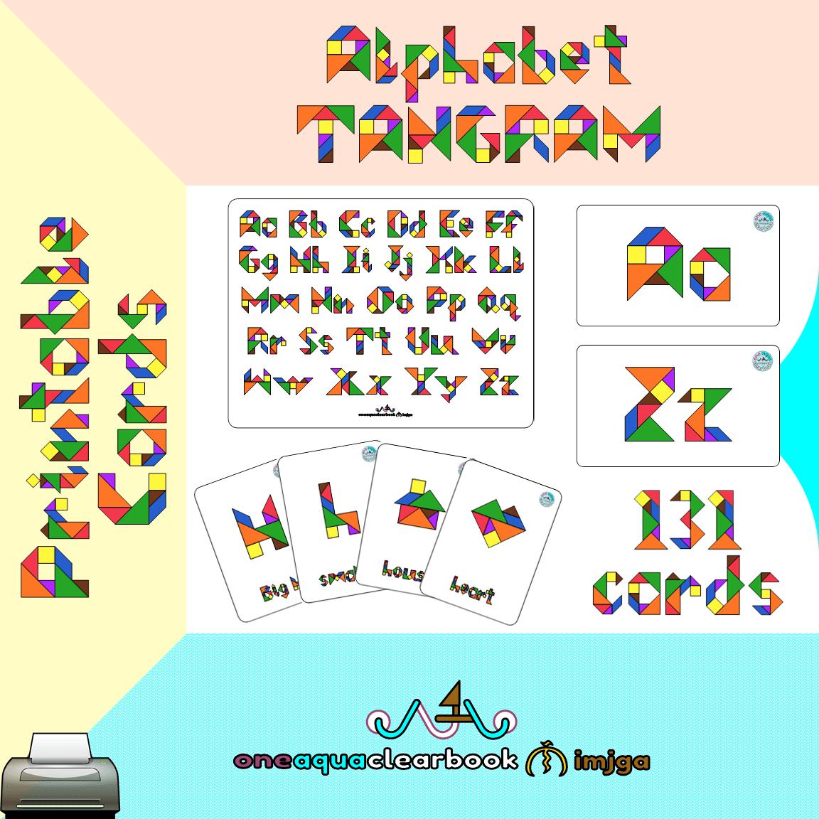 Alphabet Tangram Cards