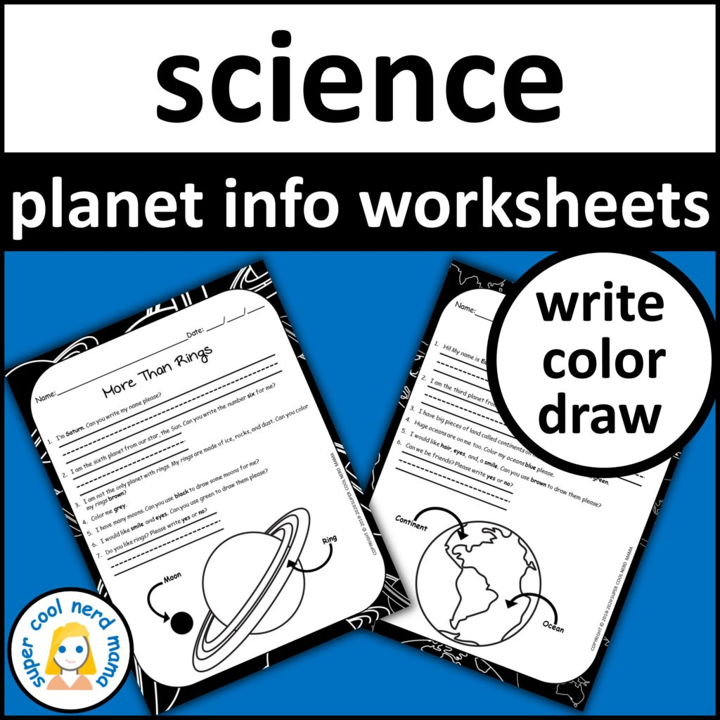 Planets Worksheets Drawing And Writing
