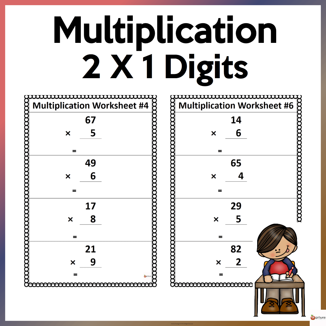 2 X 1 Multiplication Worksheets