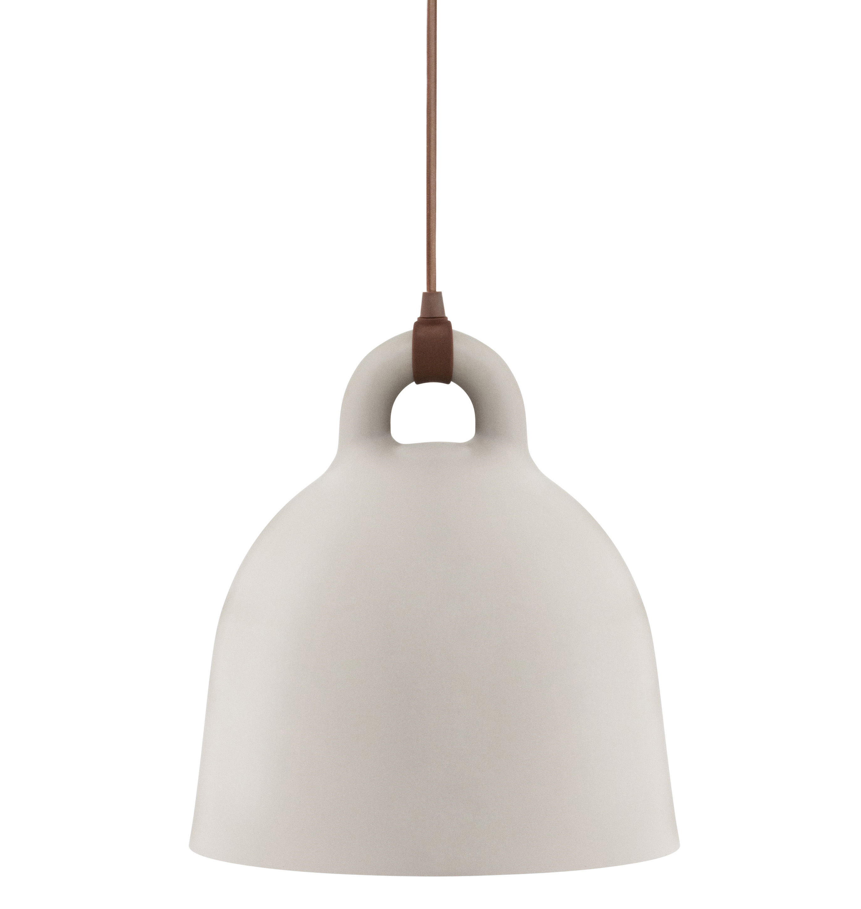 Suspension Bell Small 35 Cm Sable Mat Amp Int Blanc
