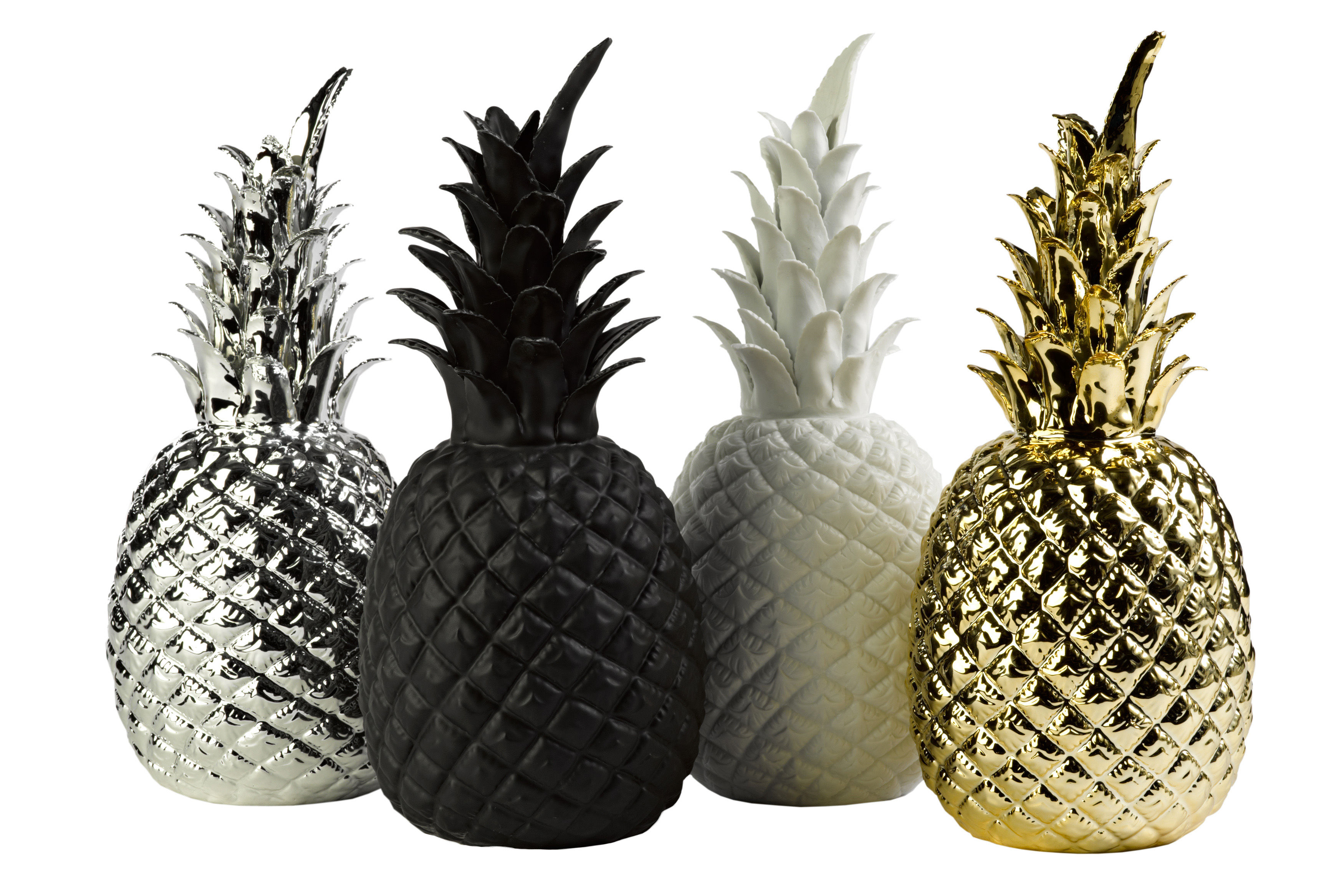 Dcoration Pineapple Porcelaine H 32 Cm Noir Pols Potten