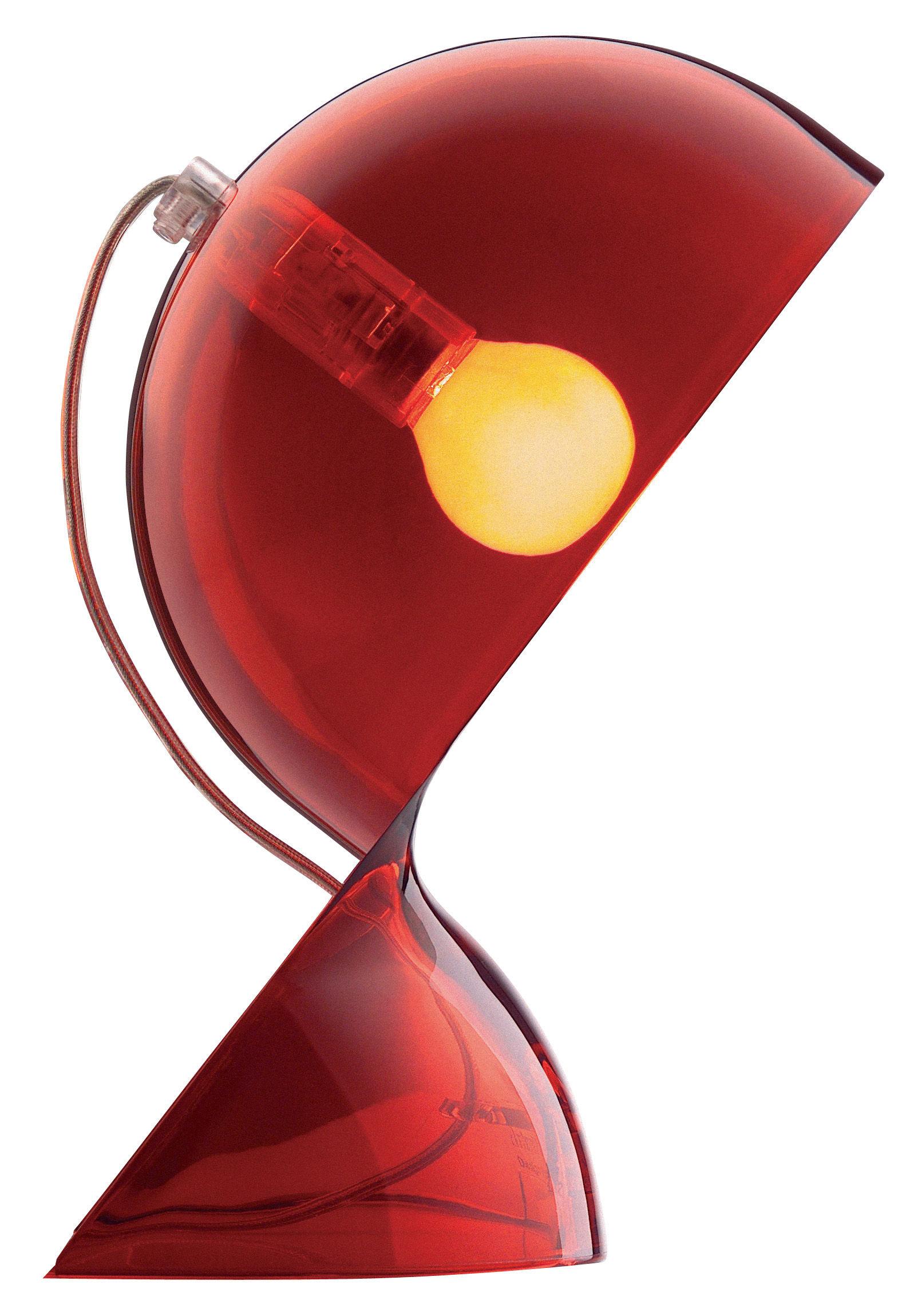 Lampe De Table Dal Rouge Transparent Artemide