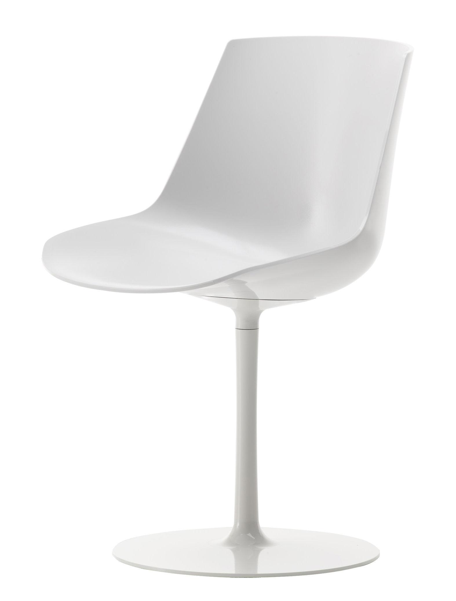 mobilier chaises fauteuils de salle a manger chaise pivotante flow pied central