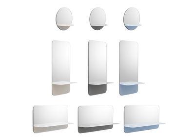 miroir mural horizon horizontal etagere l 80 x h 40 cm normann copenhagen