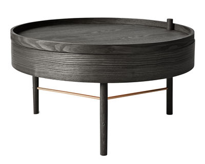 turning table coffee table storage o 65 cm by menu