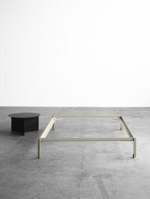 mobilier lits cadre de lit connect metal 180 x 200 cm