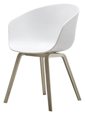 fauteuil about a chair aac22 plastique chene savonne hay