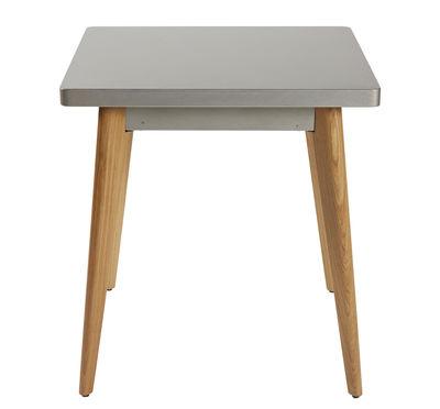 table carree 55 70 x 70 cm metal pieds bois tolix