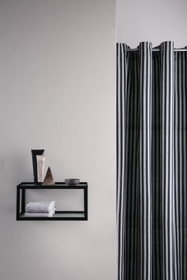 chambray striped shower curtain 160 x h 205 cm coated cotton by ferm living