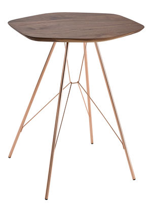 furniture coffee tables emil end table walnut copper by zanotta walnut