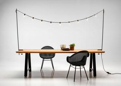 guirlande lumineuse exterieur light my table avec fixations pour plateaux de tables vincent sheppard